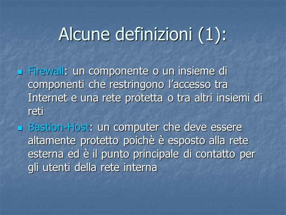 Alcune definizioni (1):