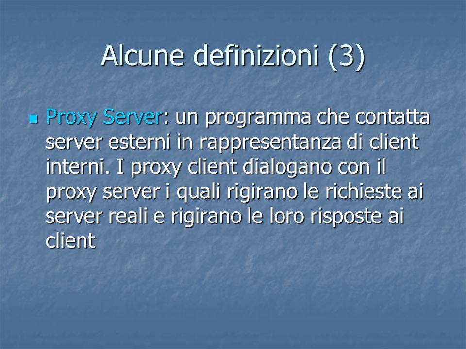 Alcune definizioni (3)