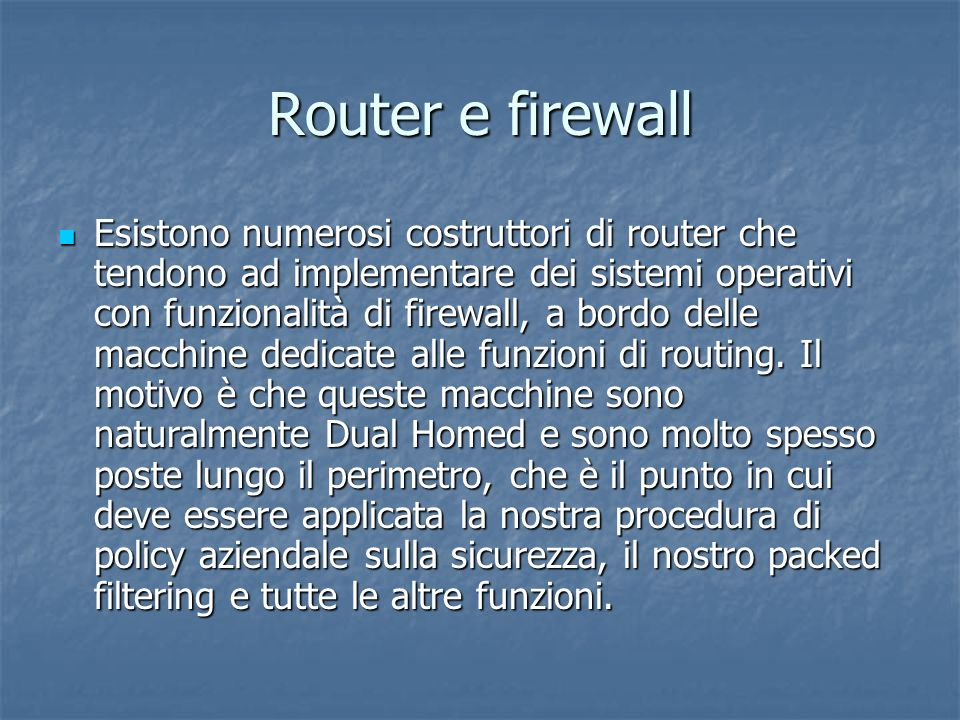 Router e firewall