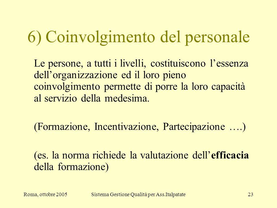 6) Coinvolgimento del personale