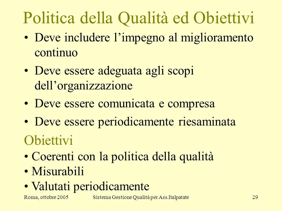Politica della Qualità ed Obiettivi
