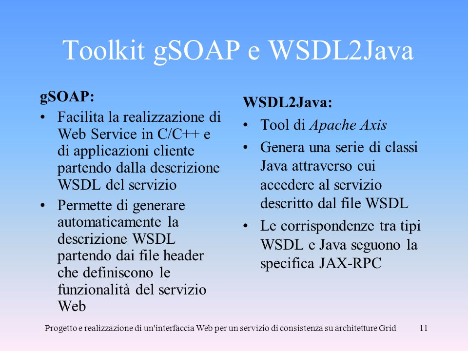 Toolkit gSOAP e WSDL2Java