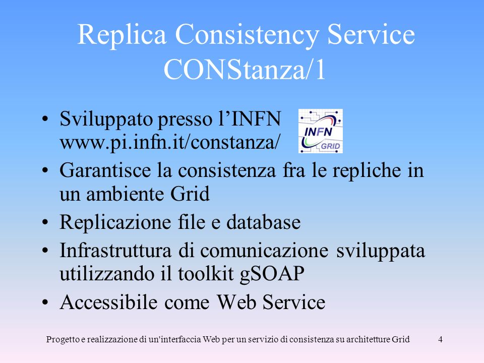 Replica Consistency Service CONStanza/1