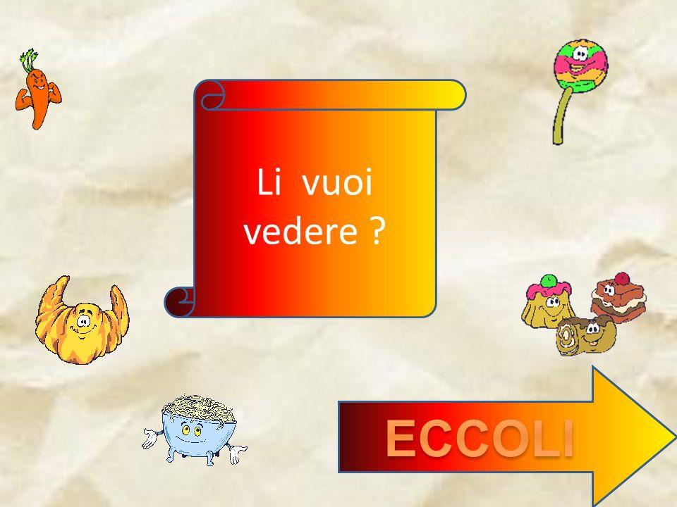 Li vuoi vedere ECCOLI