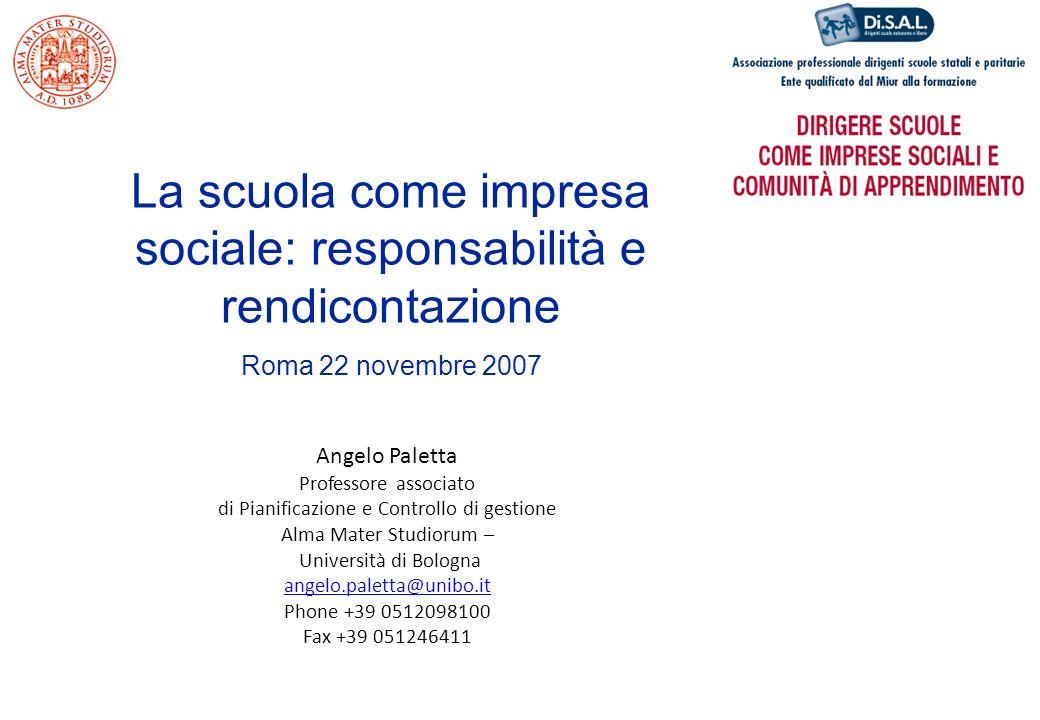 La scuola come impresa sociale: responsabilità e rendicontazione