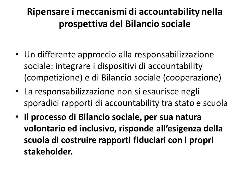 Ripensare i meccanismi di accountability nella prospettiva del Bilancio sociale