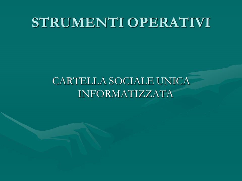 CARTELLA SOCIALE UNICA INFORMATIZZATA