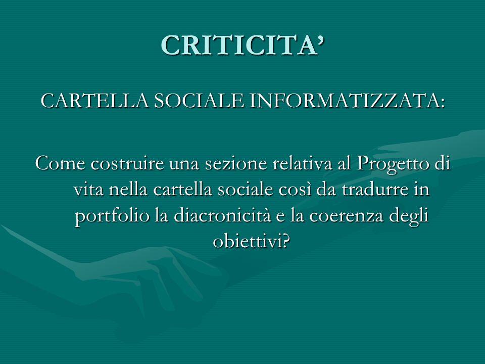 CARTELLA SOCIALE INFORMATIZZATA: