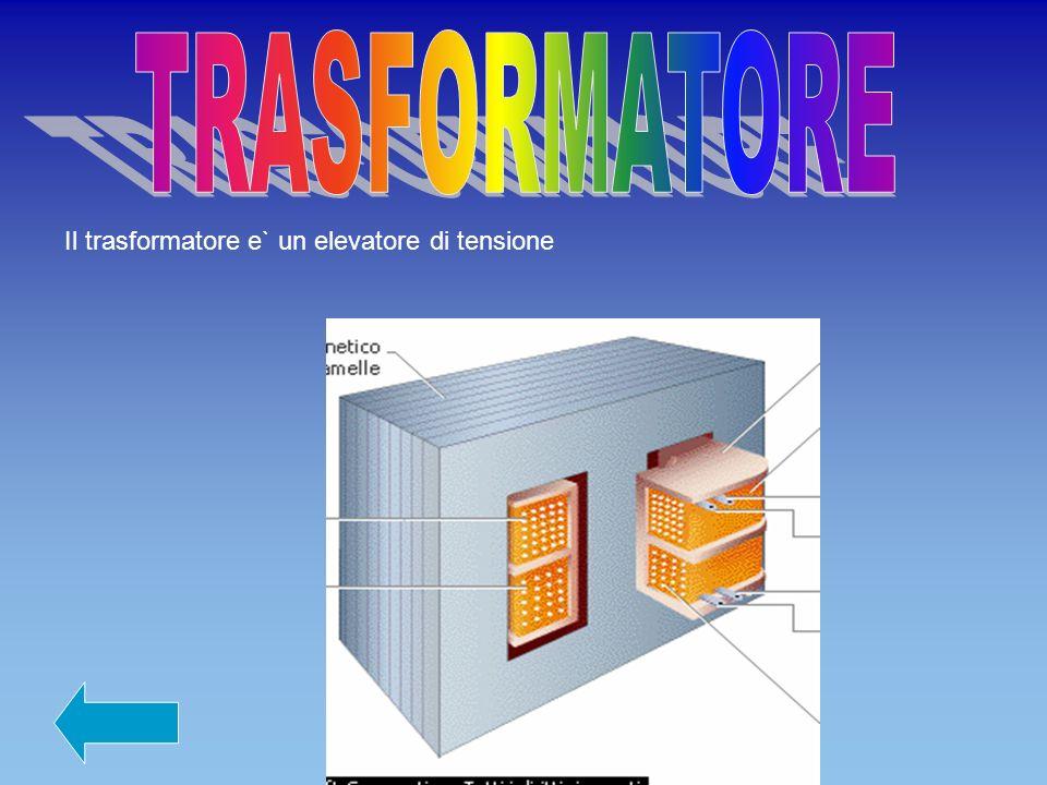 TRASFORMATORE Il trasformatore e` un elevatore di tensione