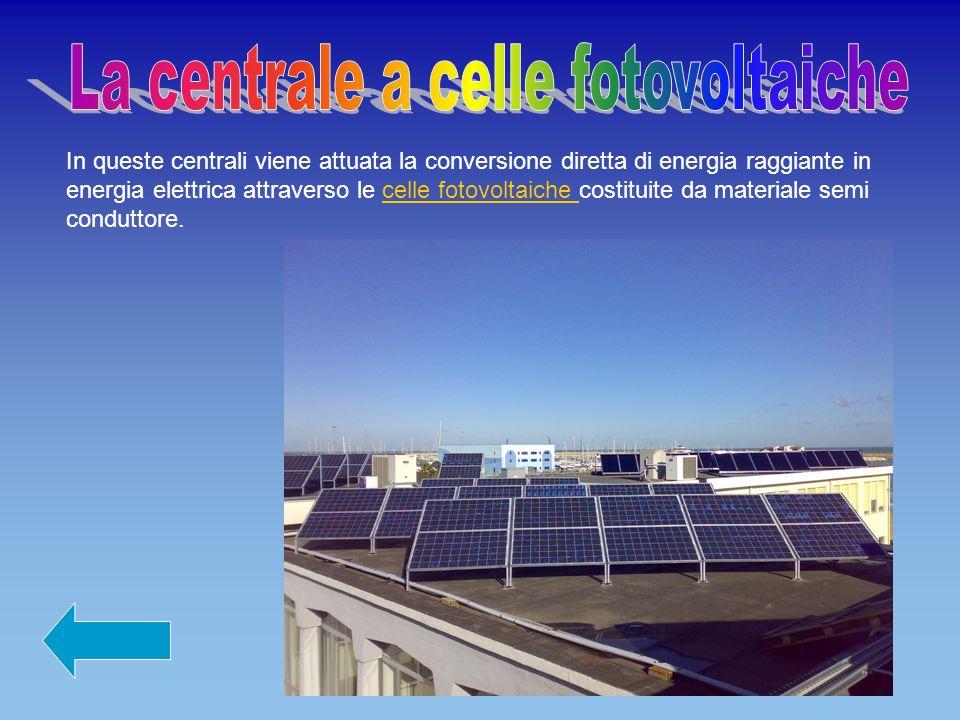 La centrale a celle fotovoltaiche