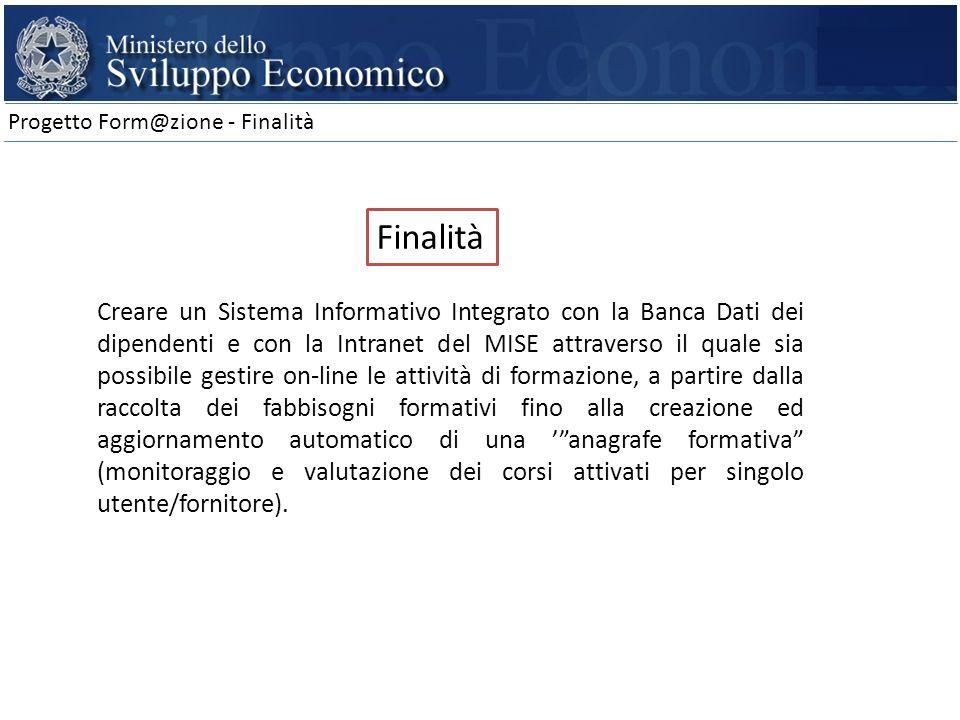 Progetto Form@zione - Finalità