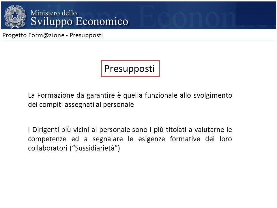 Progetto Form@zione - Presupposti