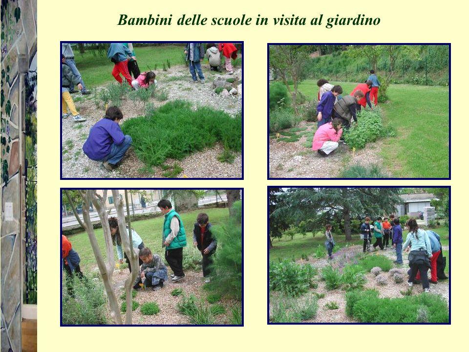 Bambini delle scuole in visita al giardino