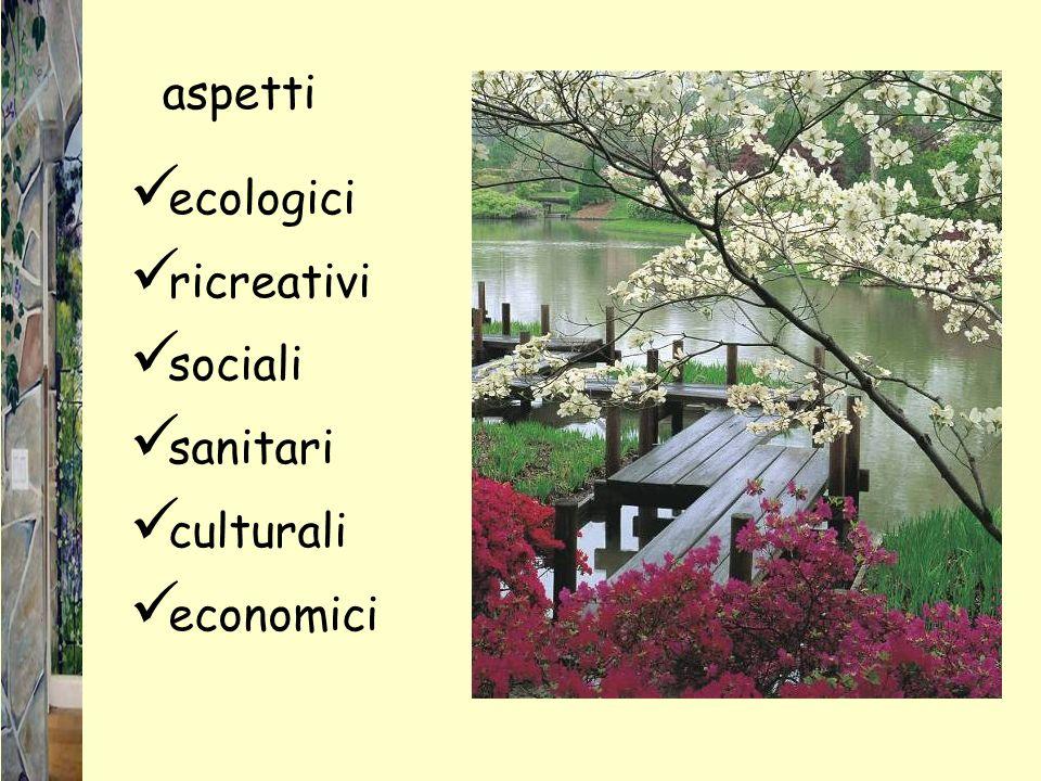 aspetti ecologici ricreativi sociali sanitari culturali economici
