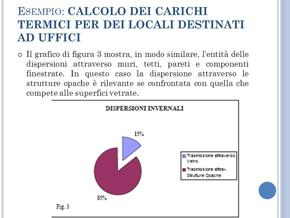 Esempio: CALCOLO DEI CARICHI TERMICI PER DEI LOCALI DESTINATI AD UFFICI