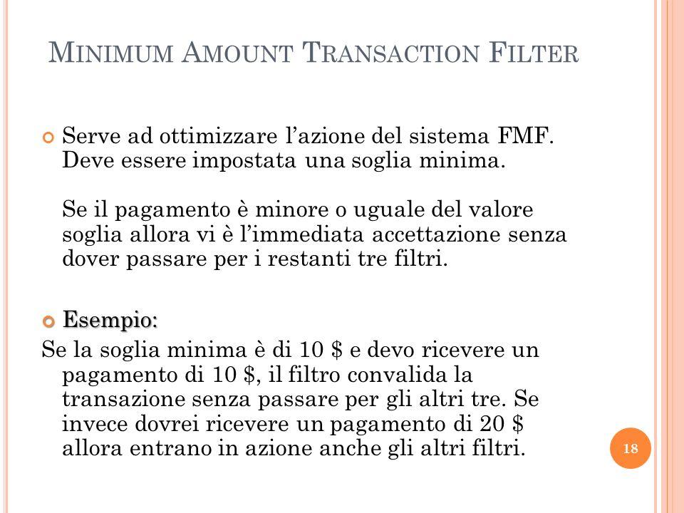 Minimum Amount Transaction Filter