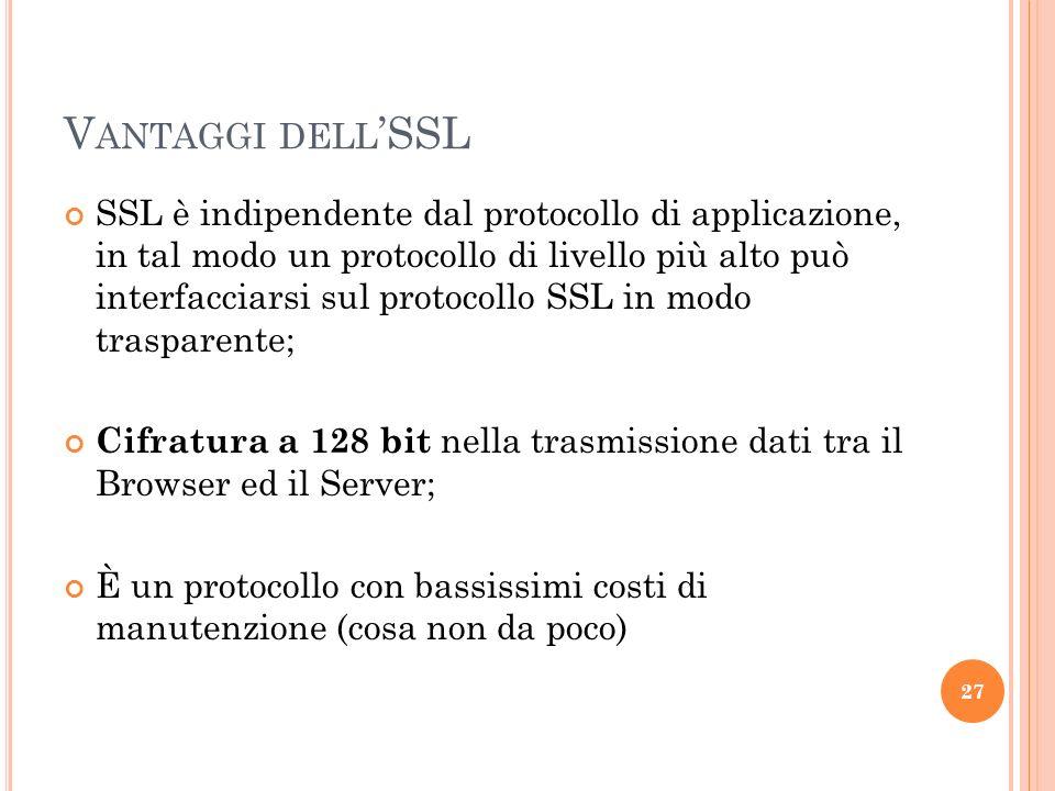 Vantaggi dell'SSL