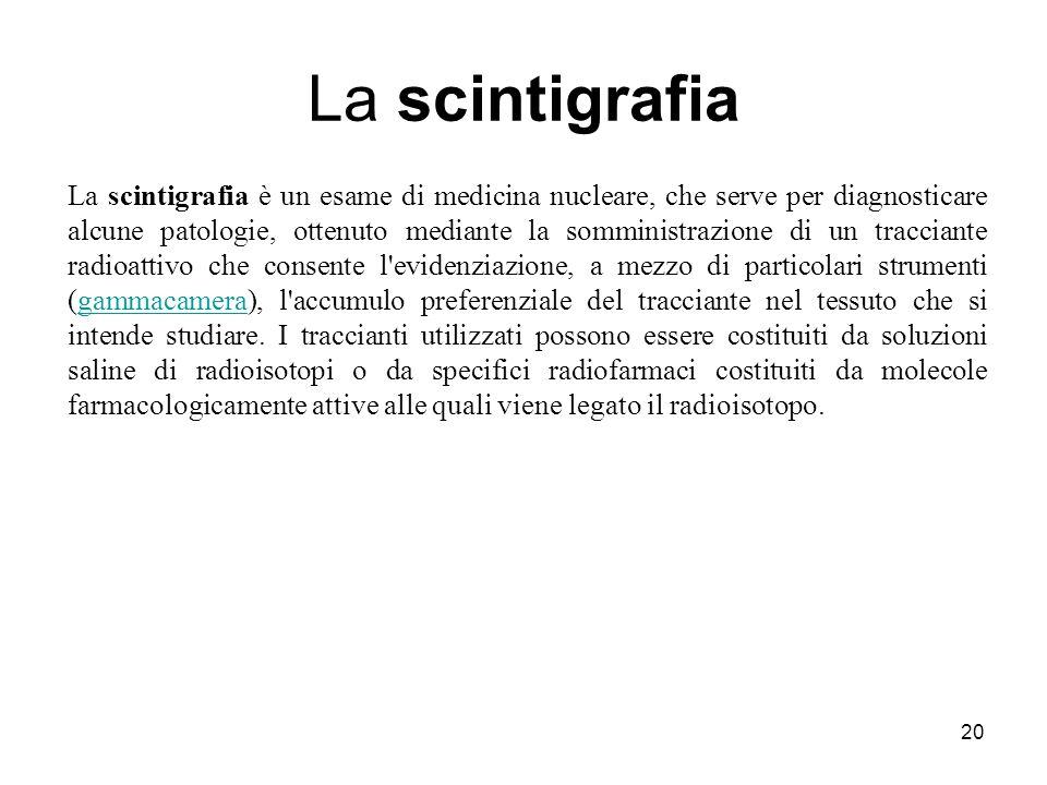 La scintigrafia