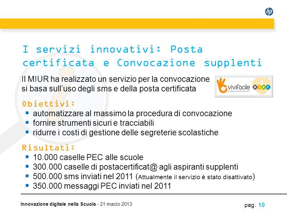 I servizi innovativi: Posta certificata e Convocazione supplenti