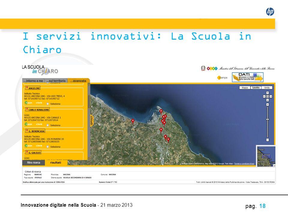 I servizi innovativi: La Scuola in Chiaro