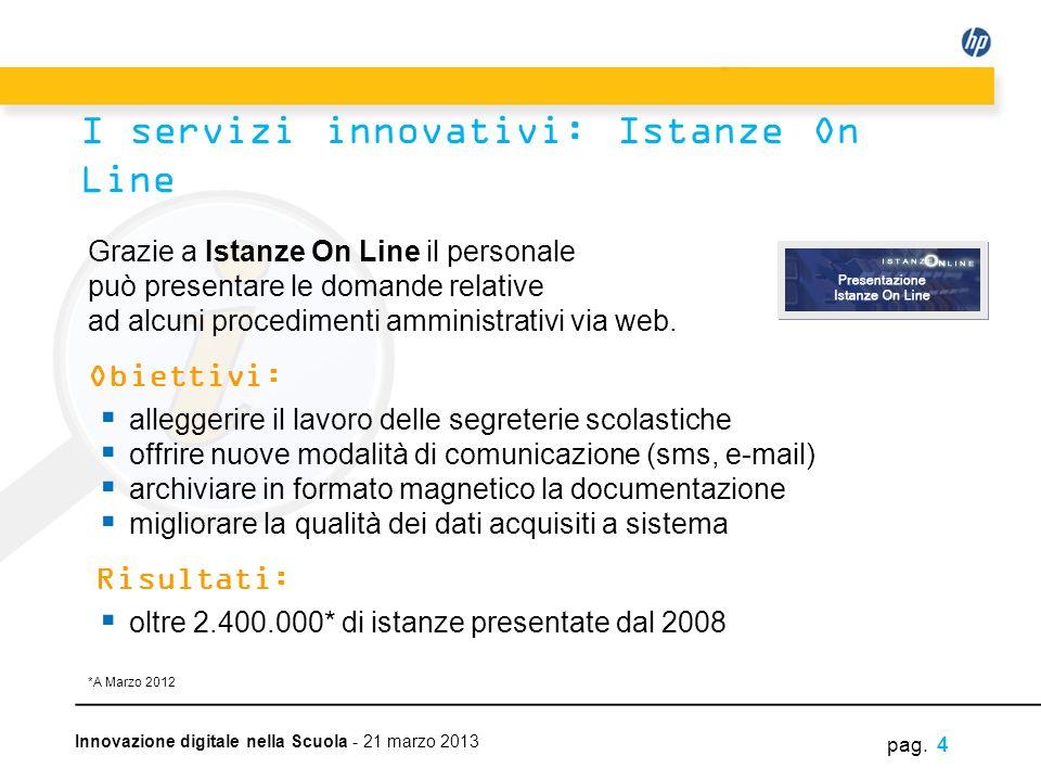 I servizi innovativi: Istanze On Line