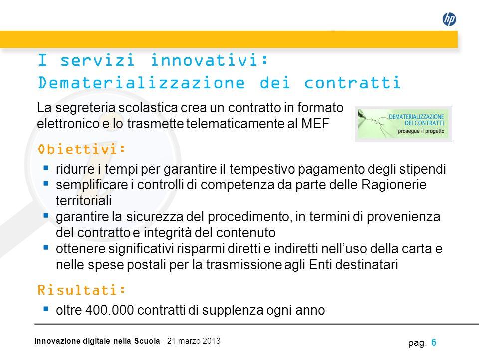 I servizi innovativi: Dematerializzazione dei contratti