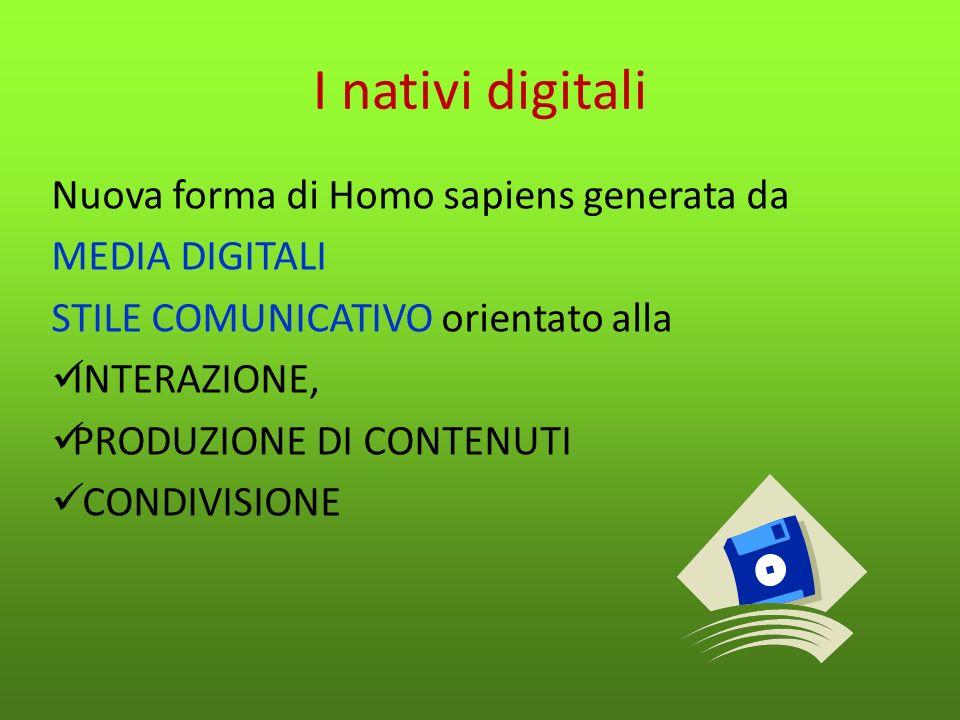 I nativi digitali Nuova forma di Homo sapiens generata da