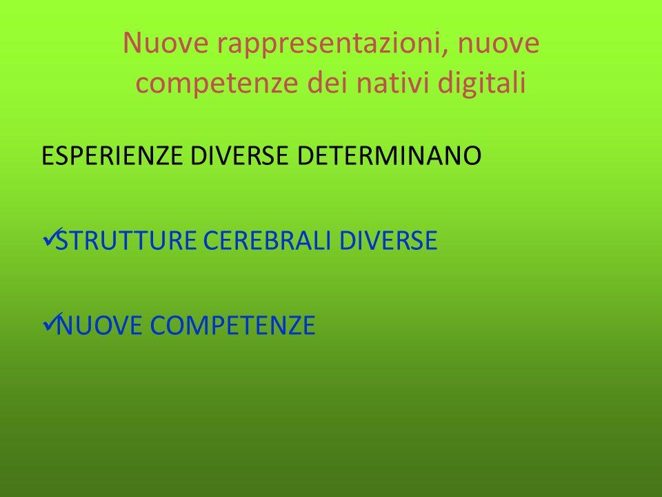 Nuove rappresentazioni, nuove competenze dei nativi digitali