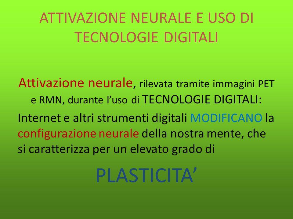 ATTIVAZIONE NEURALE E USO DI TECNOLOGIE DIGITALI