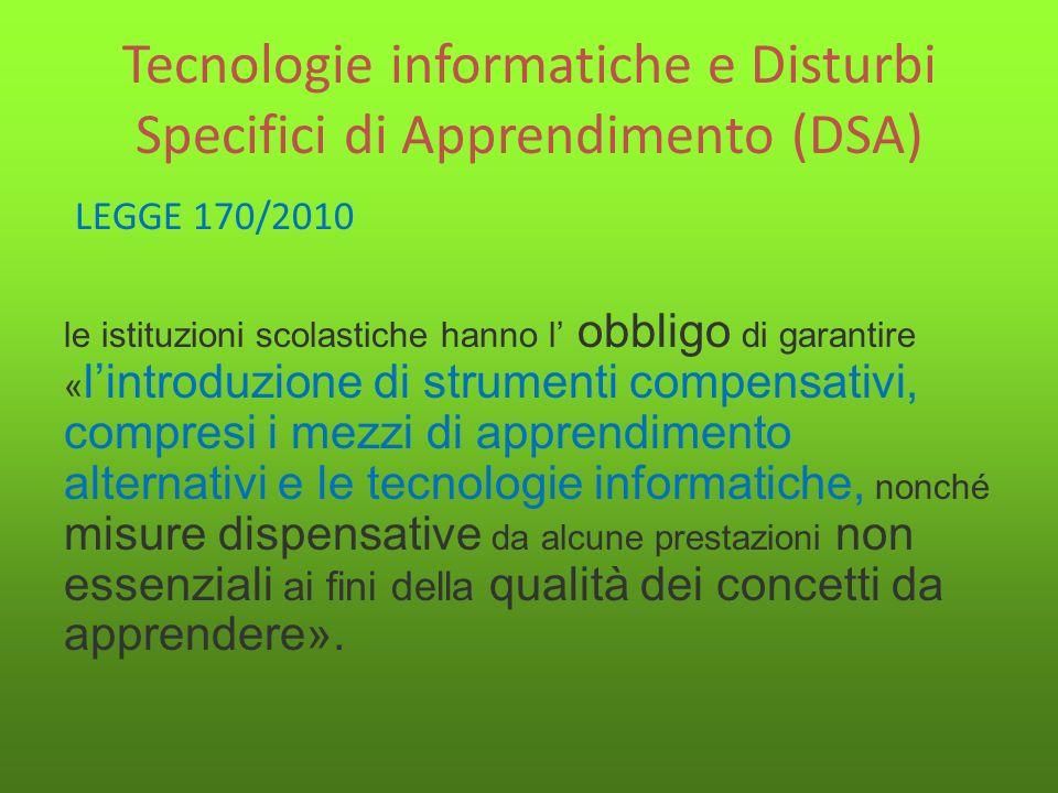 Tecnologie informatiche e Disturbi Specifici di Apprendimento (DSA)
