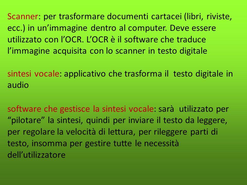 Scanner: per trasformare documenti cartacei (libri, riviste, ecc