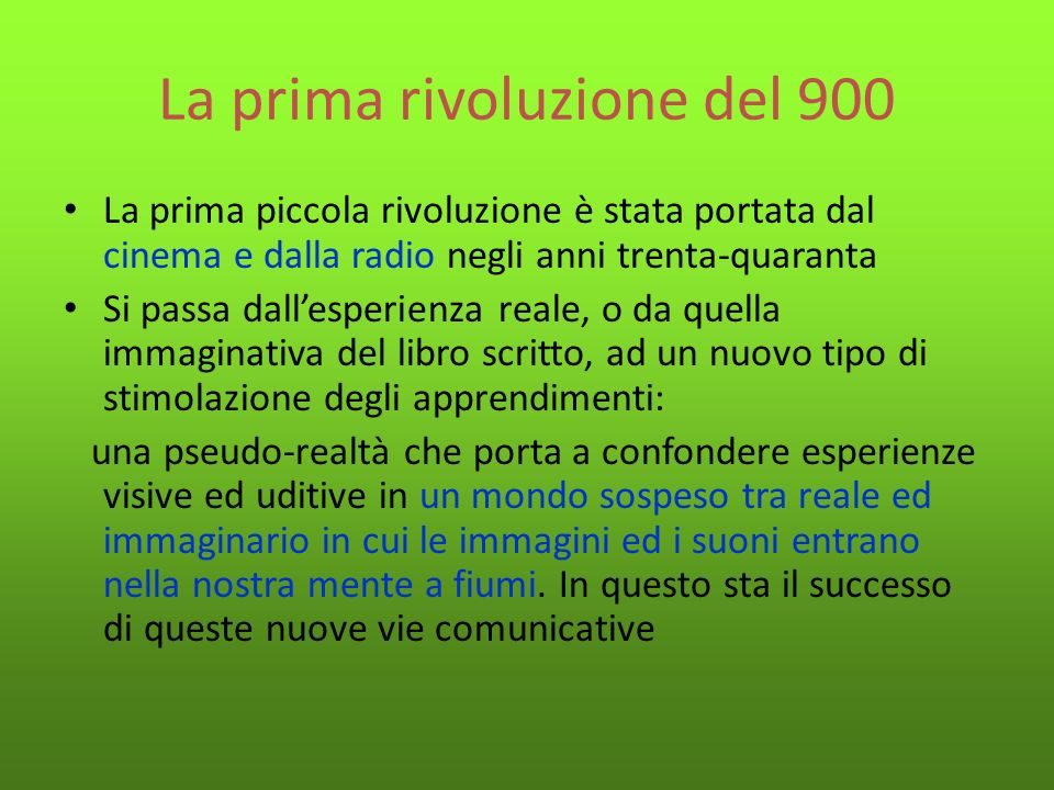 La prima rivoluzione del 900