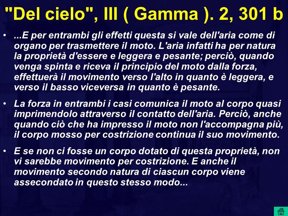 Del cielo , III ( Gamma ). 2, 301 b