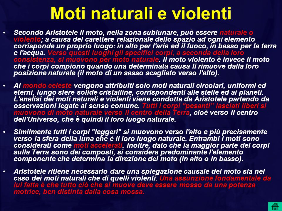 Moti naturali e violenti