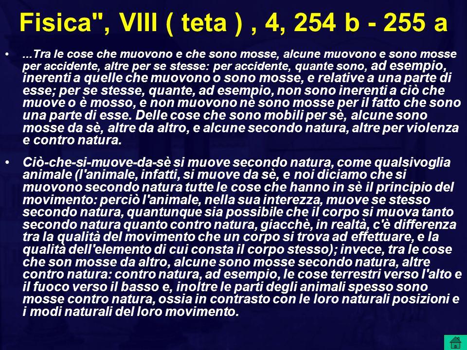 Fisica , VIII ( teta ) , 4, 254 b - 255 a