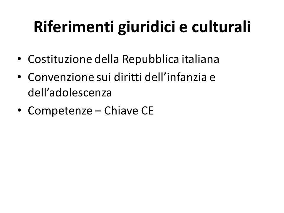 Riferimenti giuridici e culturali