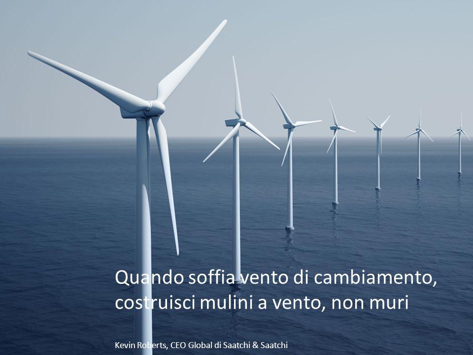 Quando soffia vento di cambiamento, costruisci mulini a vento, non muri