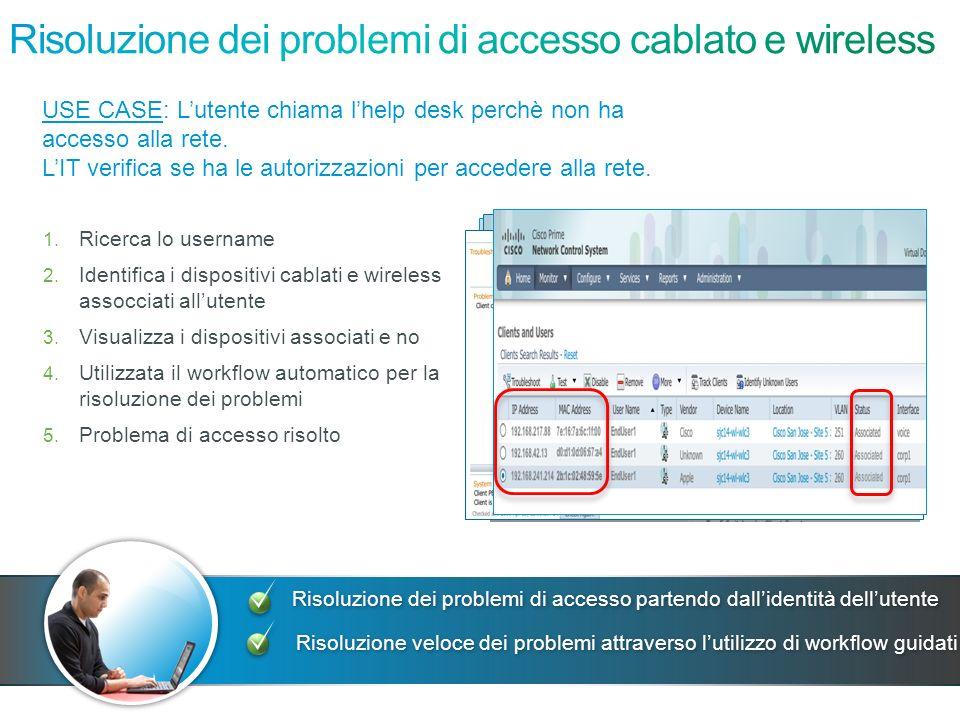 Risoluzione dei problemi di accesso cablato e wireless