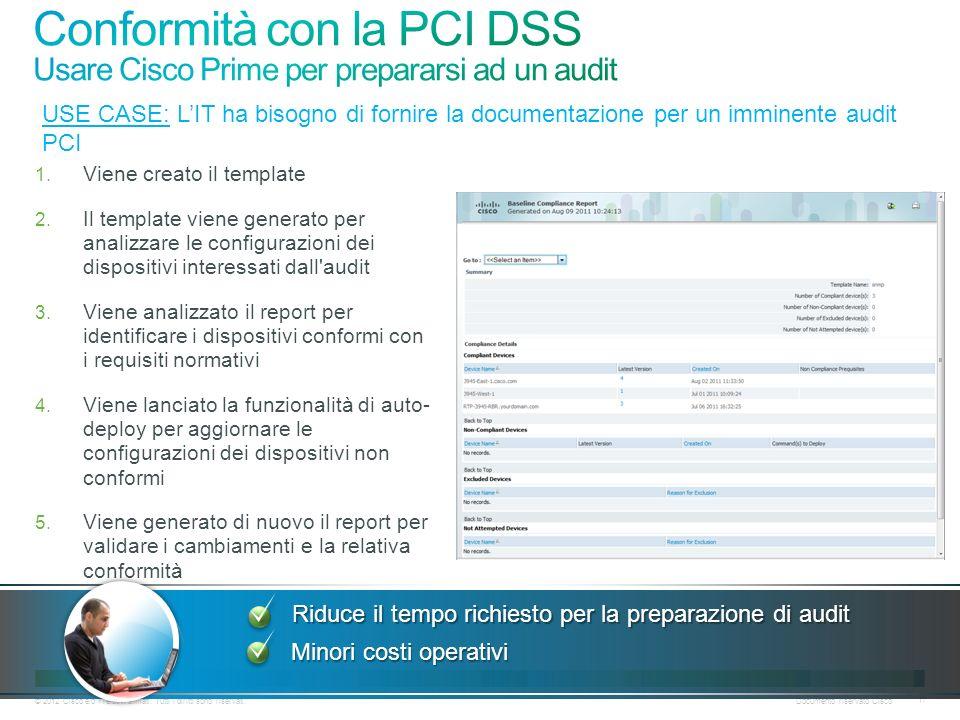 Conformità con la PCI DSS Usare Cisco Prime per prepararsi ad un audit