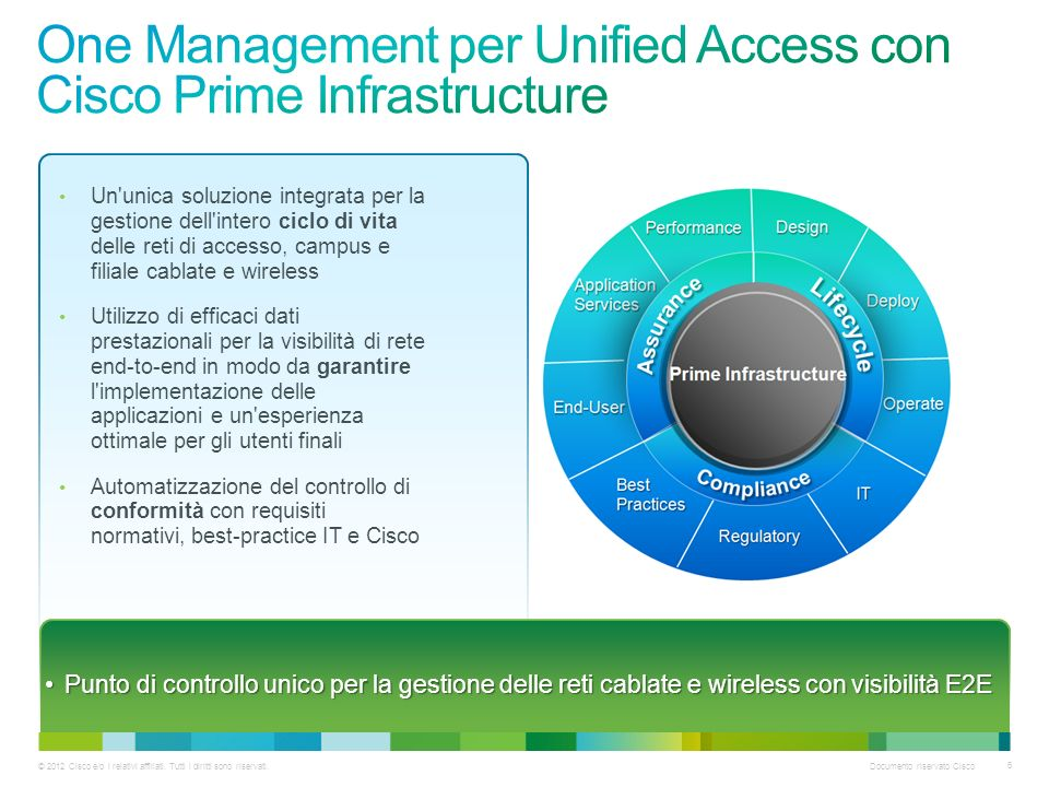 One Management per Unified Access con Cisco Prime Infrastructure