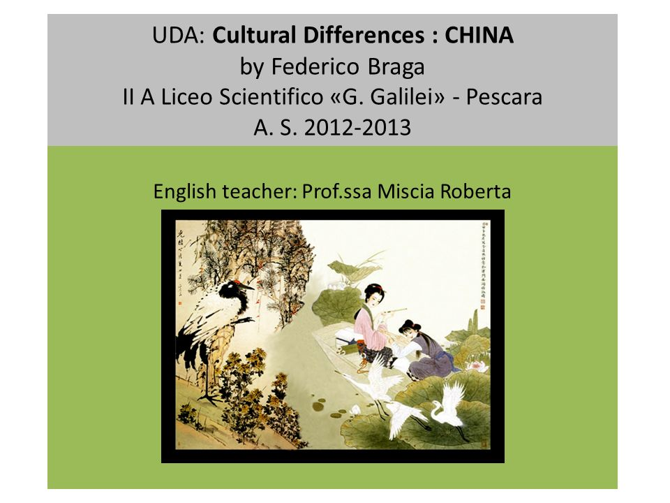 English teacher: Prof.ssa Miscia Roberta