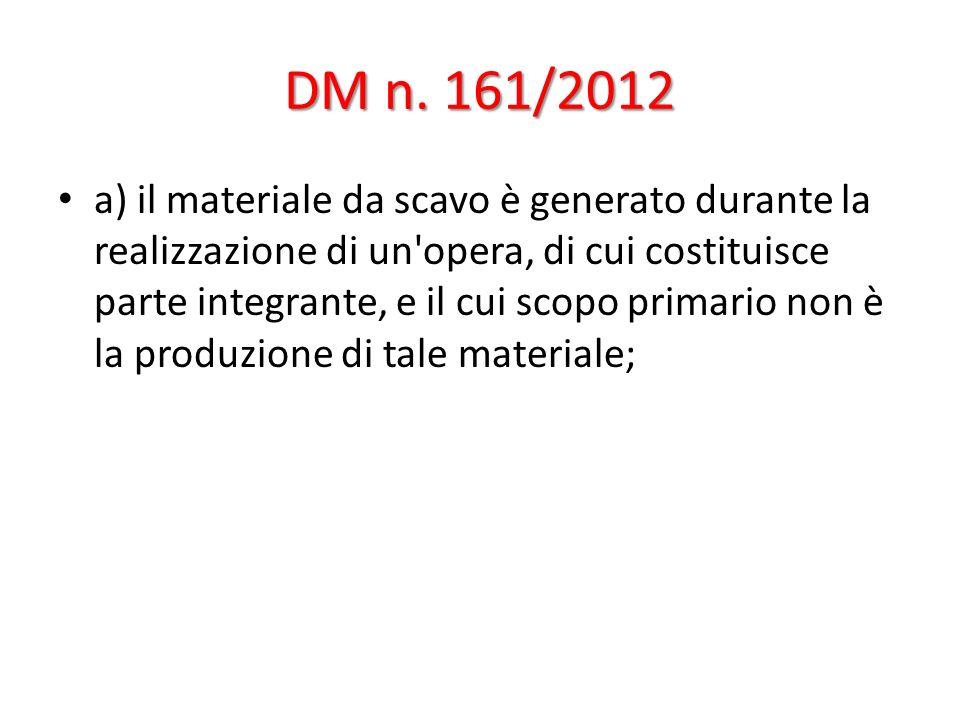 DM n. 161/2012