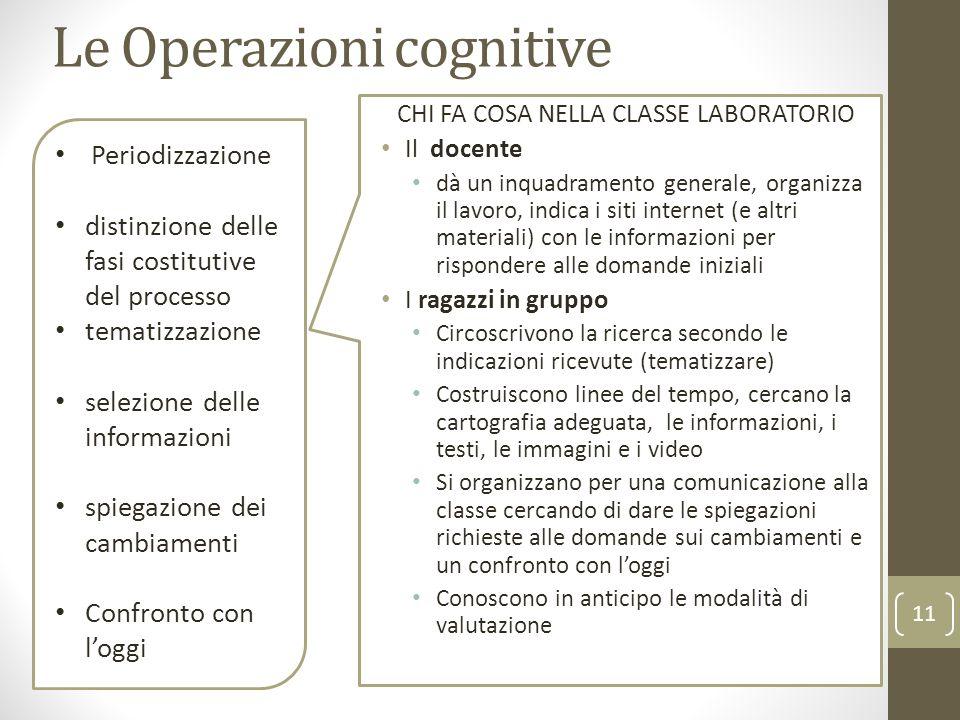 Le Operazioni cognitive