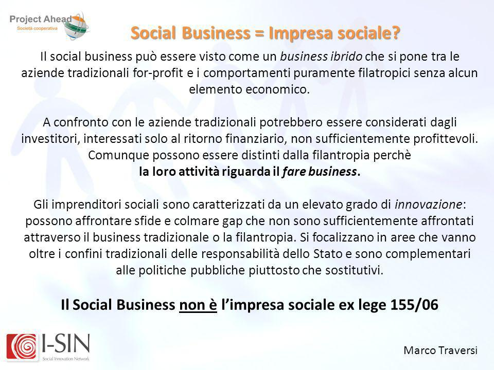 Social Business = Impresa sociale
