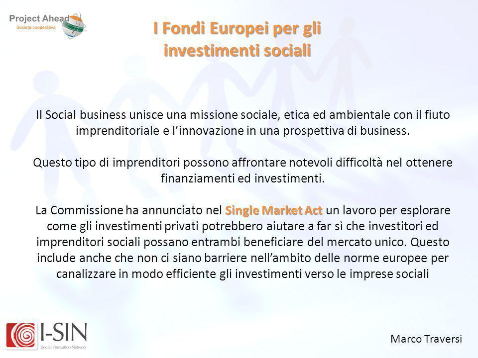 I Fondi Europei per gli investimenti sociali