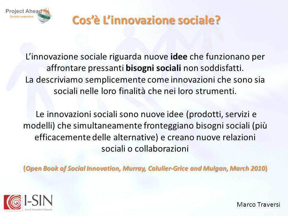 Cos'è L'innovazione sociale