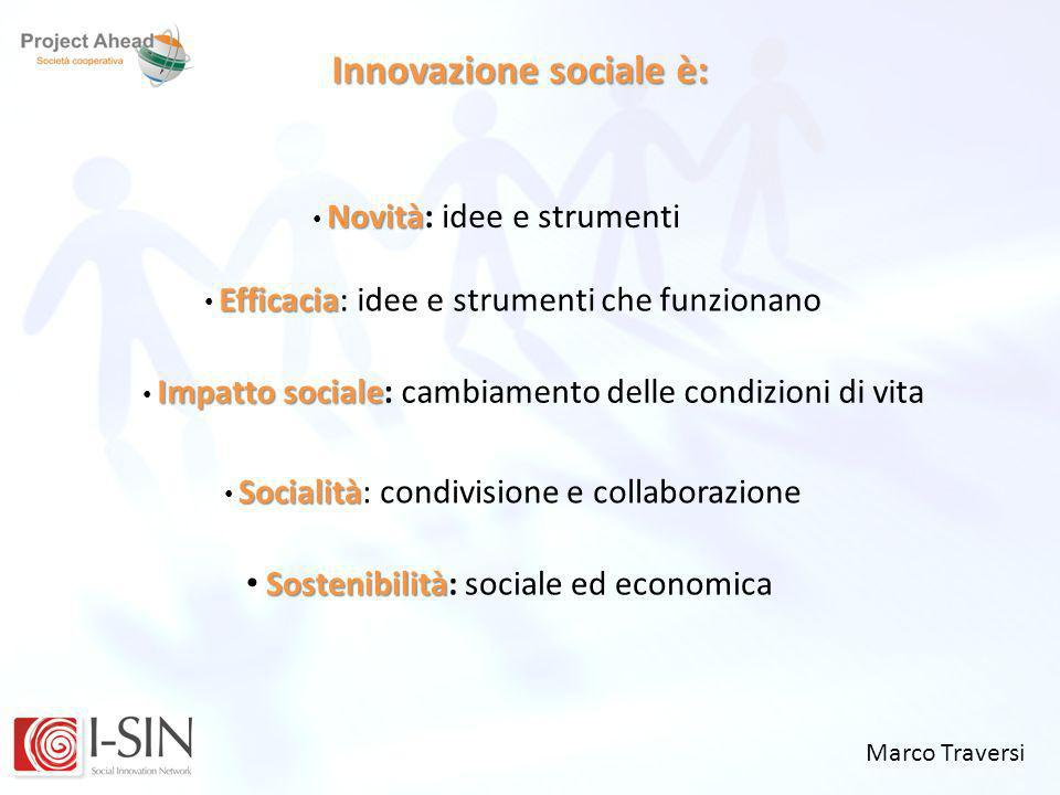 Innovazione sociale è:
