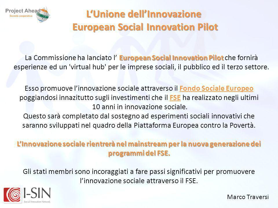 L'Unione dell'Innovazione European Social Innovation Pilot