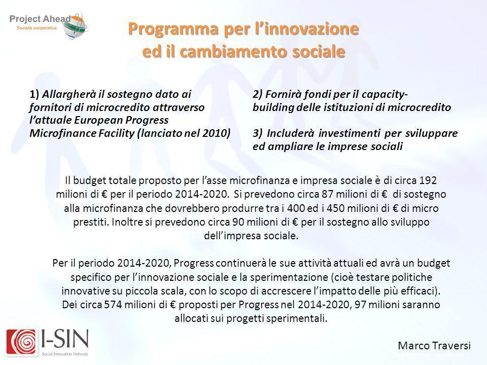 Programma per l'innovazione ed il cambiamento sociale