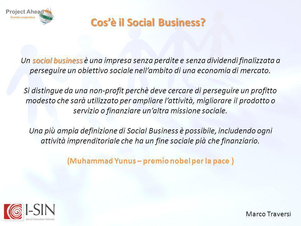 Cos'è il Social Business (Muhammad Yunus – premio nobel per la pace )
